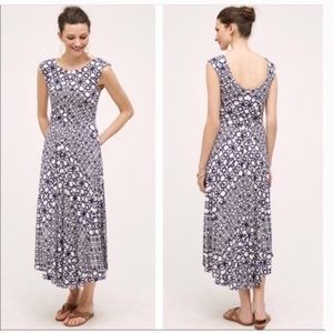 Anthropologie Maeve Mallorca Dress Purple/cream S